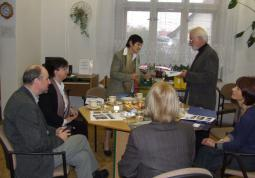 2008 – colleagues from Koblenz in SVK, reception by the director